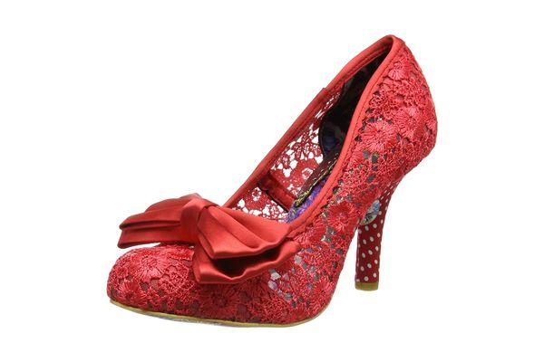 Women's Irregular Choice Mal E Bow Party Slip-on Court Shoes High Heel