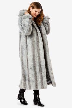 Roaman's Full Length Faux-Fur Coat