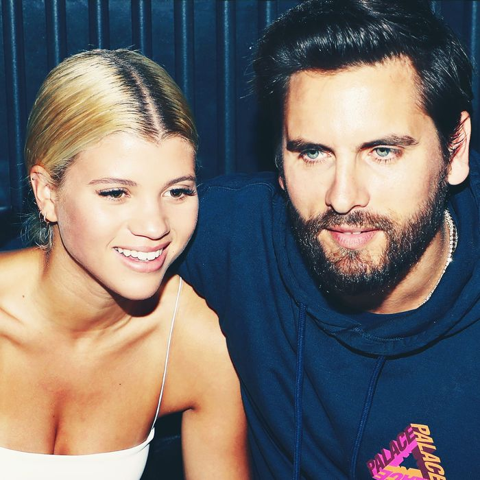 sofia richie 20 and scott disick 35 are lovey dovey