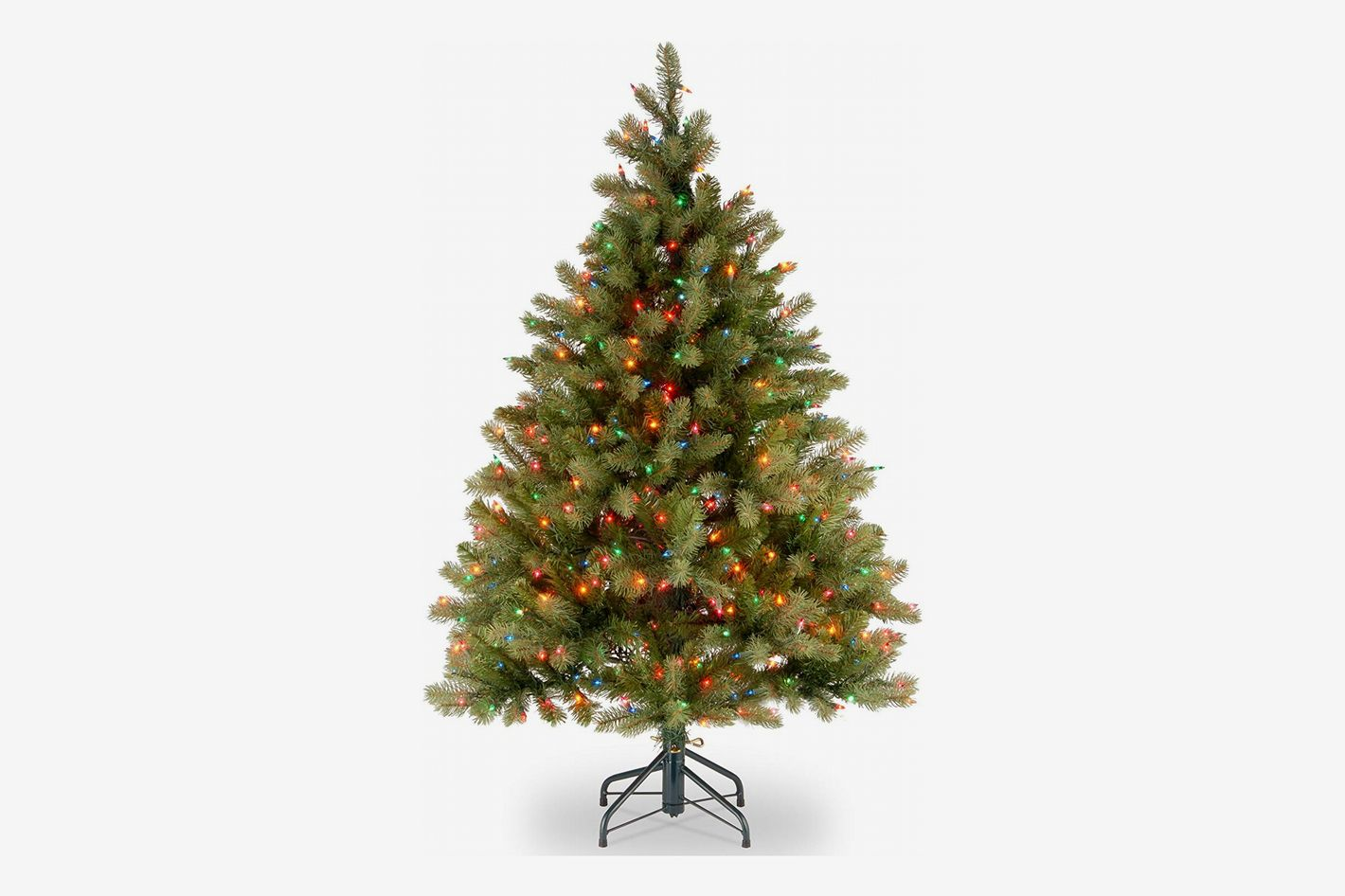 National Tree 4 5 Foot Feel Real Downswept Douglas Fir With 450 Multicolor