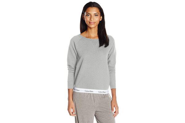 Calvin Klein Modern Cotton Long Sleeve Sweatshirt