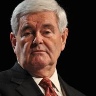 US Republican presidential hopeful former House Speaker Newt Gingrich addresses the Family Research Council's Values Voter Summit in Washington on October 7, 2011. AFP PHOTO/Nicholas KAMM (Photo credit should read NICHOLAS KAMM/AFP/Getty Images)