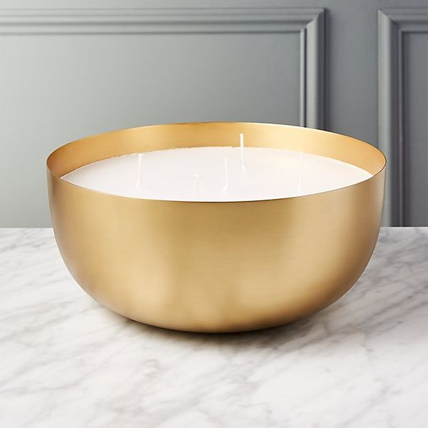 CB2 Large Brass Candle