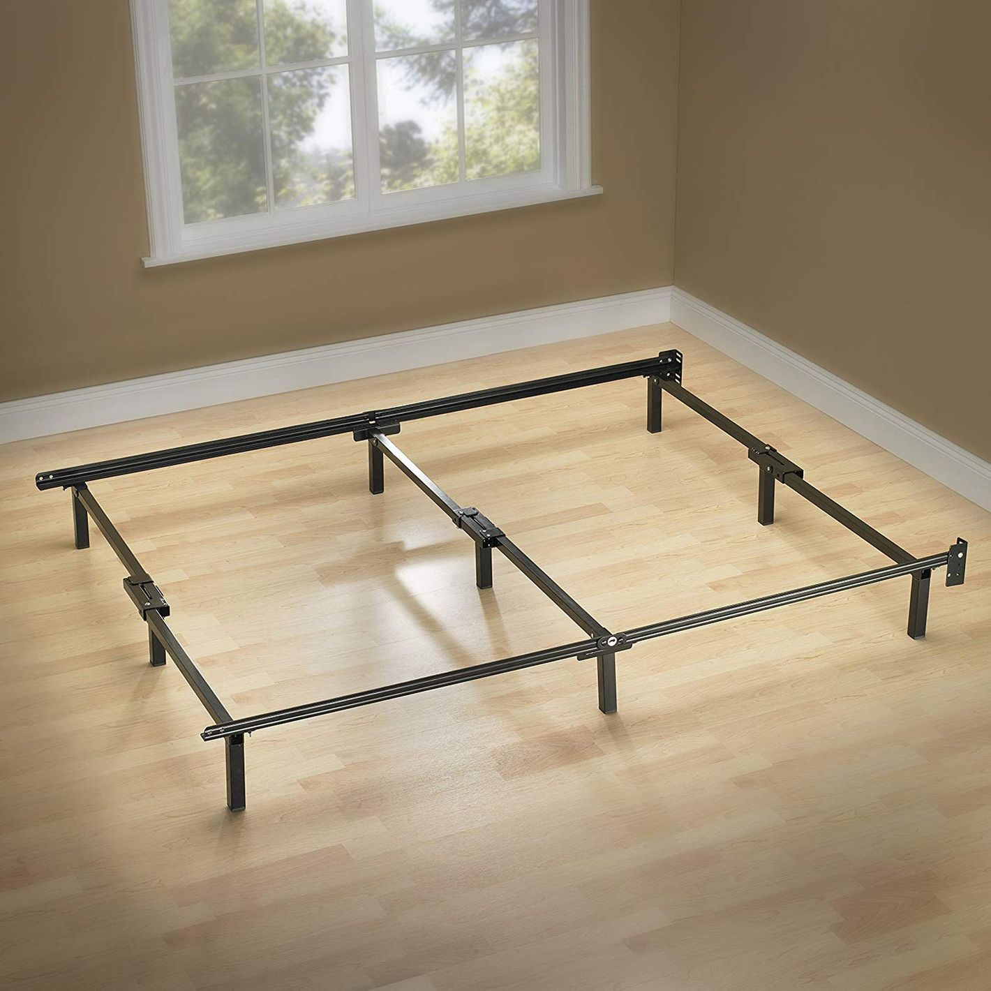 Zinus Compack 9-Leg Support Bed Frame for Box Spring & Mattress Set — Queen