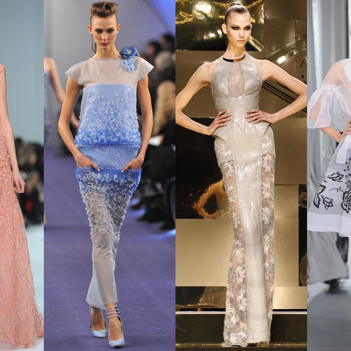 Karlie Kloss, everywhere at the spring 2012 couture shows in January.