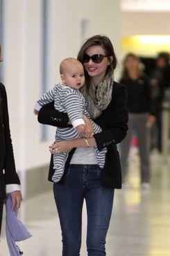 Miranda Kerr with her baby. SO CUTE.