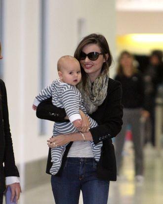 Miranda Kerr with baby Flynn.