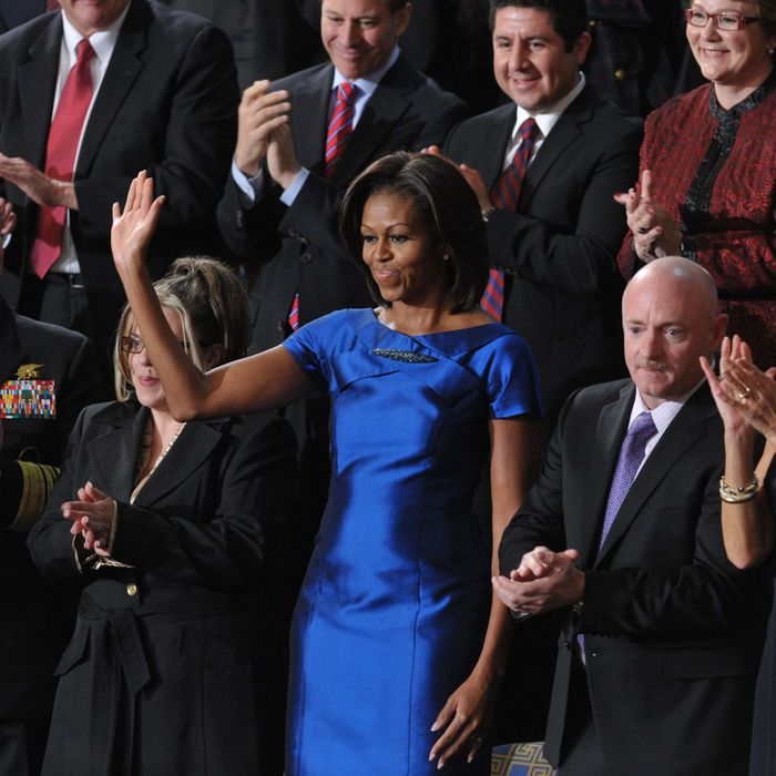 Michelle Obama at President Obama's State of the Union address.