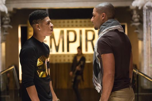 "EMPIRE: Tension mounts between Hakeem (Bryshere Gray, L) and Jamal (Jussie Smollett, R) in the ""Our Dancing Days"" episode airing Wednesday, Feb. 18 (9:01-10:00 PM ET/PT) on FOX. ?2014 Fox Broadcasting Co. CR: Chuck Hodes/FOX"