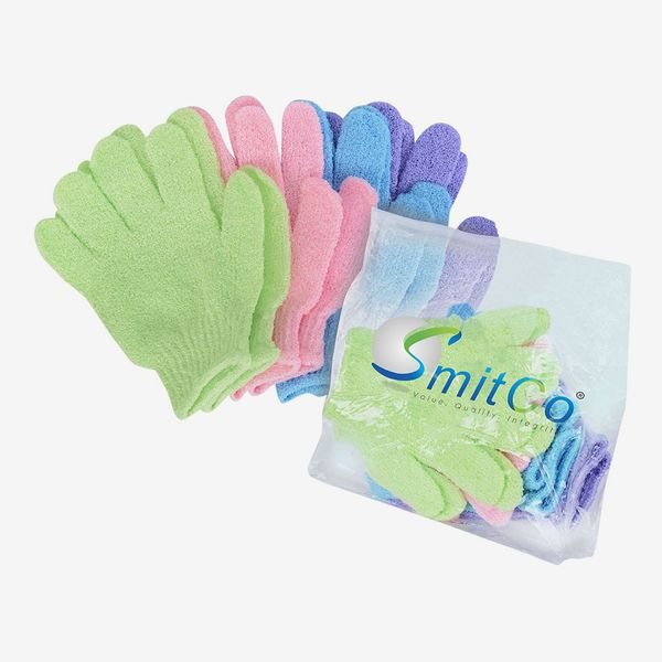 SmitCo Exfoliating Gloves, 4 Pairs