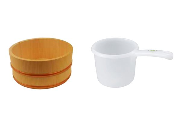 Japanese Hinoki Bath Bucket