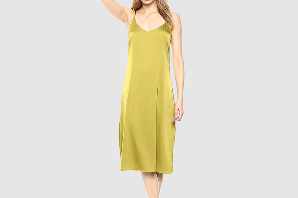 Women's Ana Silky V-Neck Midi Slip Dress