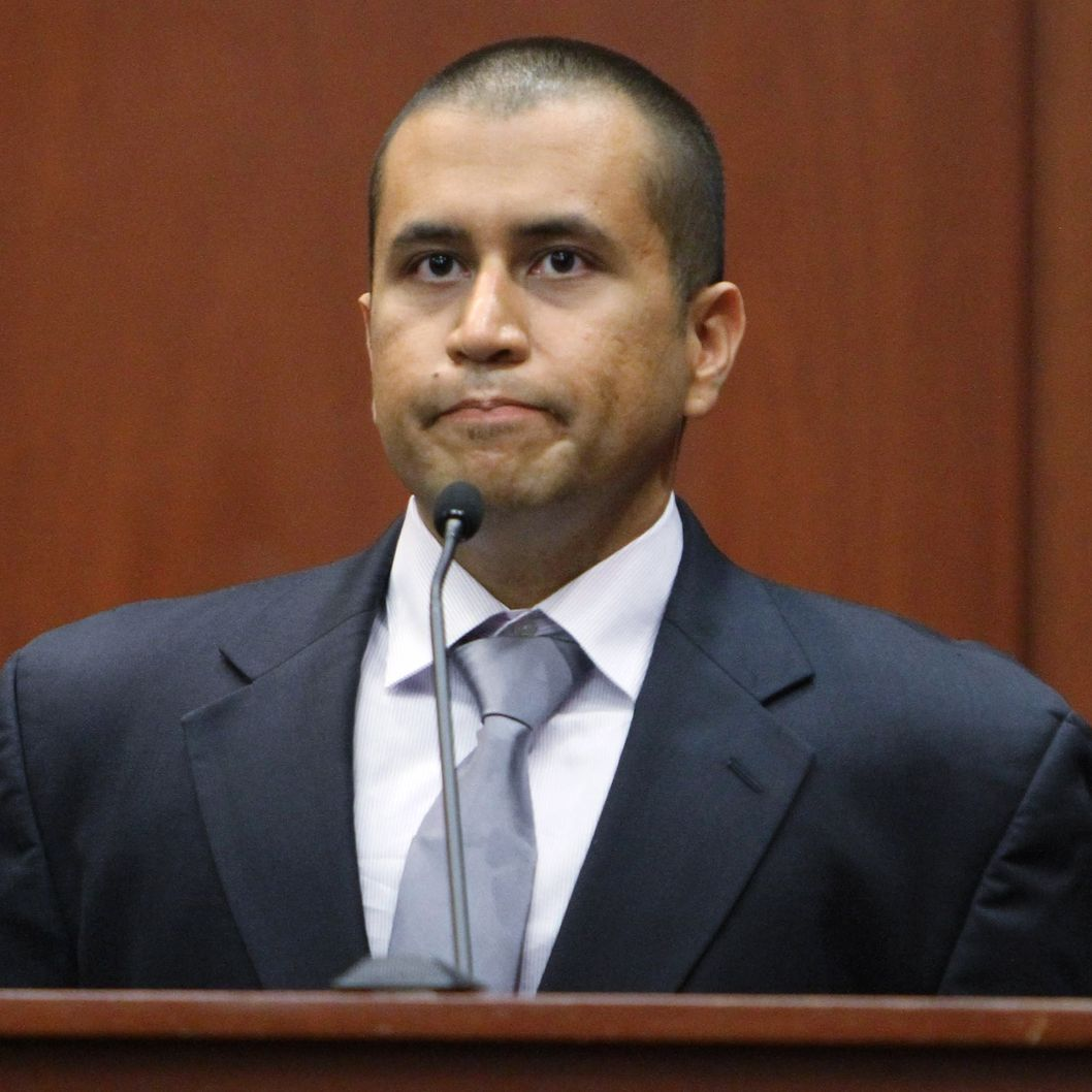 SANFORD, FL- APRIL 20: George Zimmerman sits on the stand during his bond hearing in a Seminole County courtroom on April 20, 2012 in Sanford, Florida. Trayvon Martin was shot by George Zimmerman, a member of a neighborhood watch in Sanford, Florida, who has been charged with second degree murder in the shooting. Bail was set at $150,000 for Zimmerman and he could be released from jail as early as April 21.   (Photo by Gary Green/The Orlando Sentinel-Pool/Getty Images)