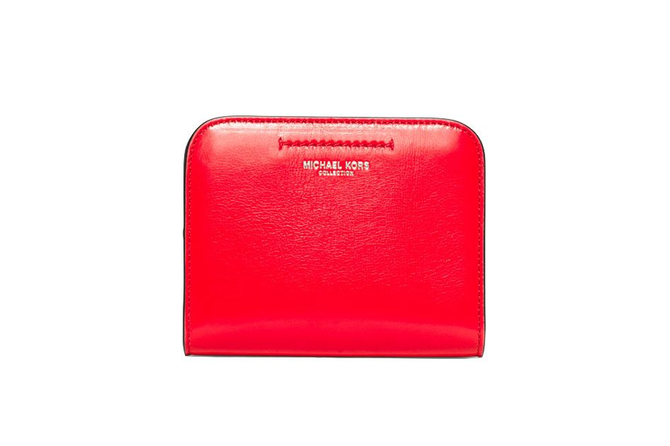 Michael Kors Collection Celeste Patent-Leather Card Case