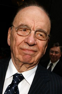 News Corp. chairman and chief executive Rupert Murdoch emerges from a meeting with key members of the Bancroft family, who controls Dow Jones & Co., Monday, June 4, 2007 in New York.  The family had initially rebuffed Murdoch's $5 billion offer for Dow Jones & Co. in early May, but last Thursday agreed to meet with him.  (AP Photo/Jason DeCrow)