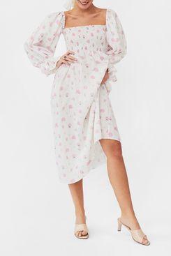 The Sleeper Atlanta Linen Dress in Pink Vichy