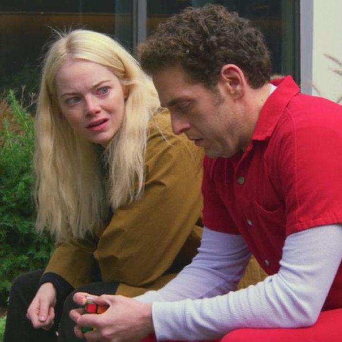 Emma Stone and Jonah Hill in Maniac.
