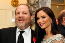 "Producer Harvey Weinstein and fashion designer Georgina Chapman attend Moet & Chandon toast for Harvey Weinstein's Legion D'honneur and screening of ""The Intouchables"" with the Ambassador of France to the United States Francois Delattre at the French Embassy on April 30, 2012 in New York City."