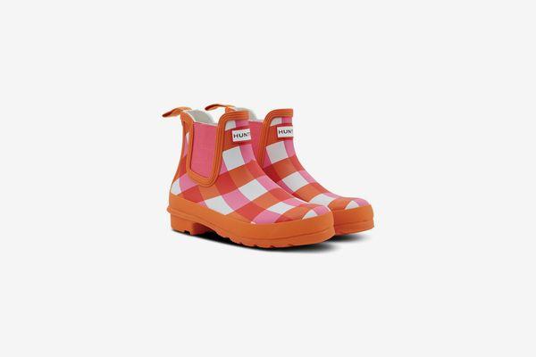 Hunter Original Gingham Chelsea Rain Boot