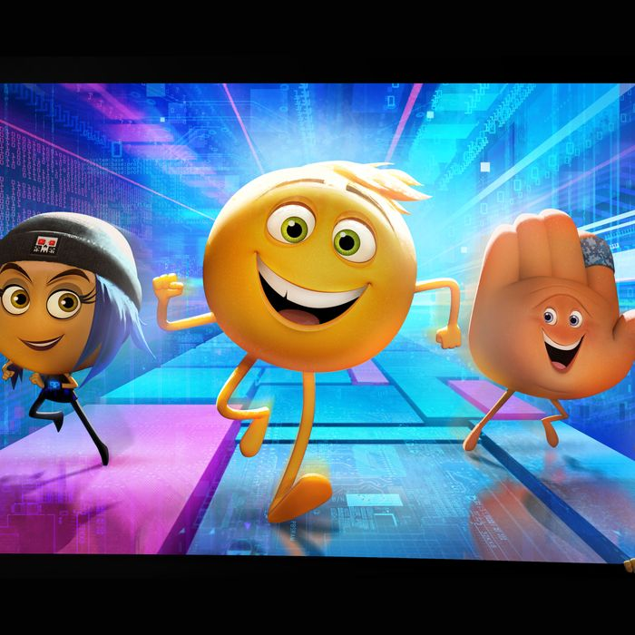 Hacker emoji Jailbreak (Ilana Glazer), exuberant Gene (T.J. Miller) and his handy best friend Hi-5 (James Corden) embark on the app-venture of a lifetime in Sony Pictures Animation's EMOJIMOVIE: EXPRESS YOURSELF, in theaters summer 2017.