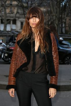 Caroline De Maigret attends the Anthony Vaccarello show as part of the Paris Fashion Week Womenswear Fall/Winter 2014-2015 on February 25, 2014 in Paris, France.