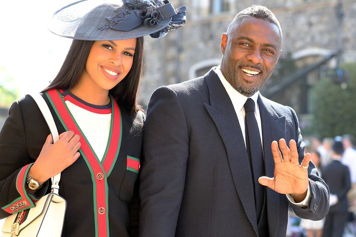 Idris Elba and Sabrina Dhowre.