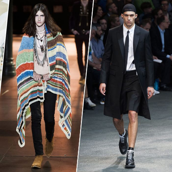 fddf6b2590e Riccardo Tisci threw some Victoria's Secret angels into the mix during the  presentation of his Givenchy men's spring 2015 collection in Paris on  Friday ...