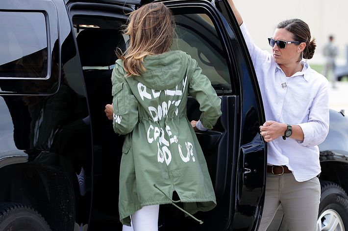 Image result for melania trump jacket