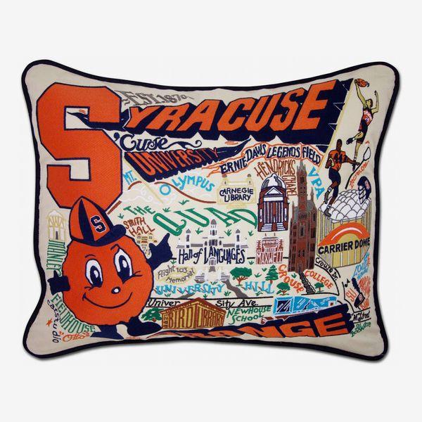 Cat Studio Syracuse University Collegiate Embroidered Pillow