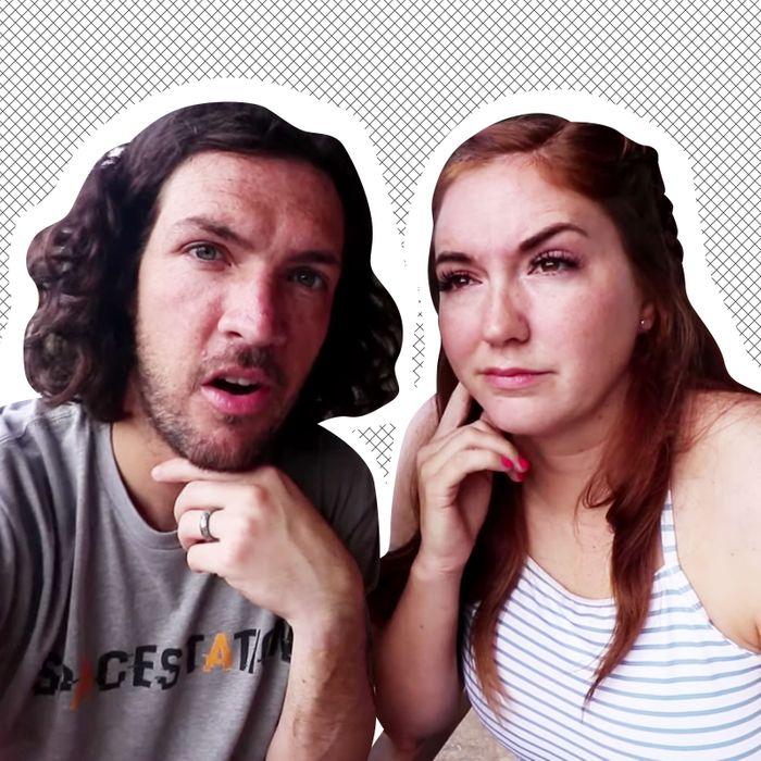 Shaun and Jenny McBride, post–cliff fall.