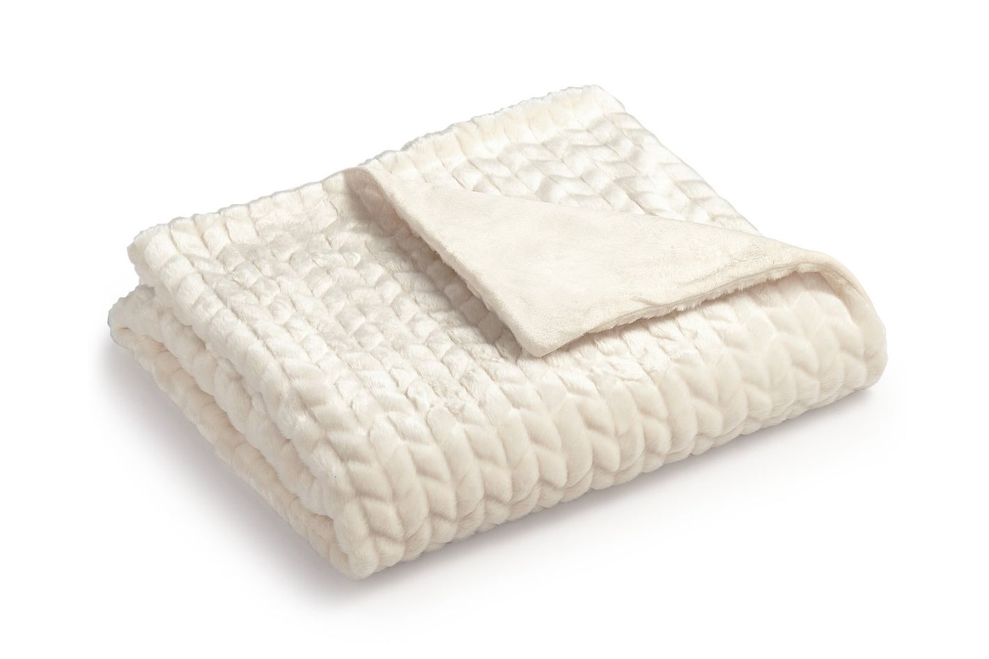 Martha Stewart Collection Quilted Faux Fur Throw