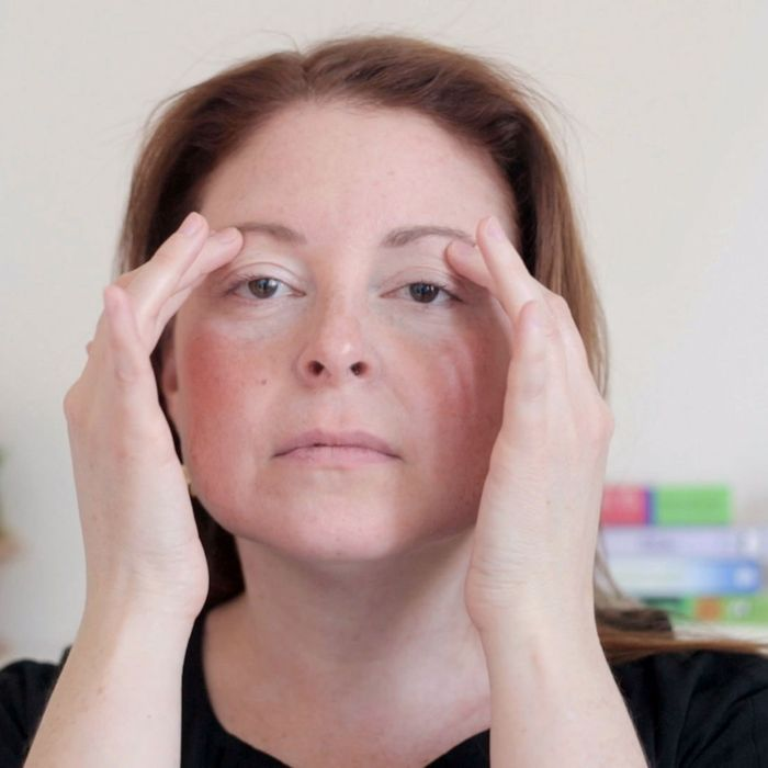 Gif Tutorial How To Give Yourself A French Facial Massage