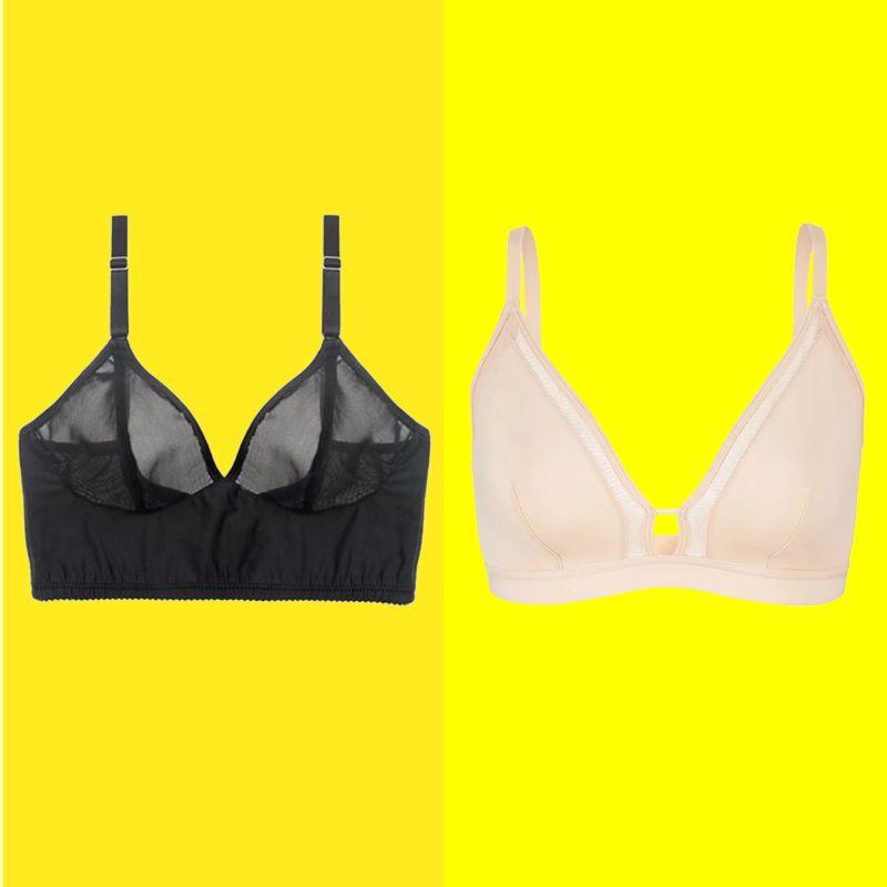 Ladies Full Cup Unpadded Soft Bra Underwired Underwear Lingerie Black and White