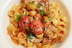 Smoked tomato orecchiette, fennel and pork sausage, basil.