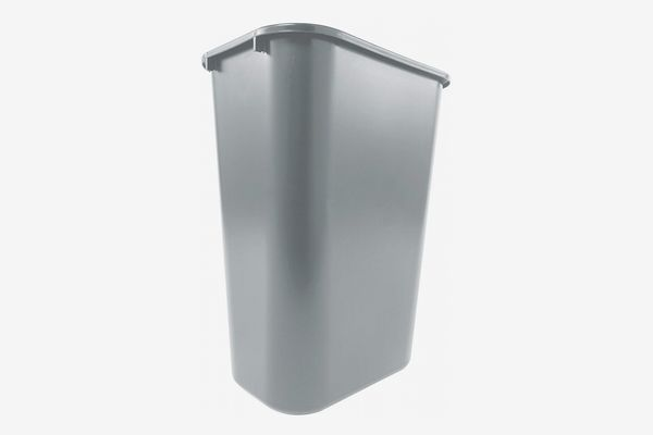 Rubbermaid Commercial Products Gray Plastic Resin Deskside Wastebasket