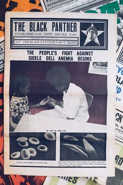 Blk Mkt Vintage Original Black Panther Party Newspaper