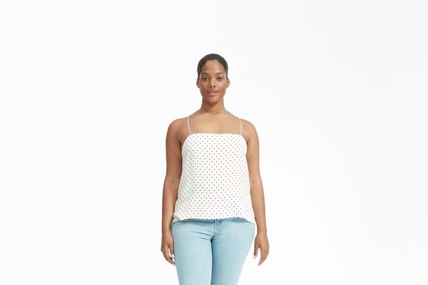 The Polka Dot Cami - White / Black Dots