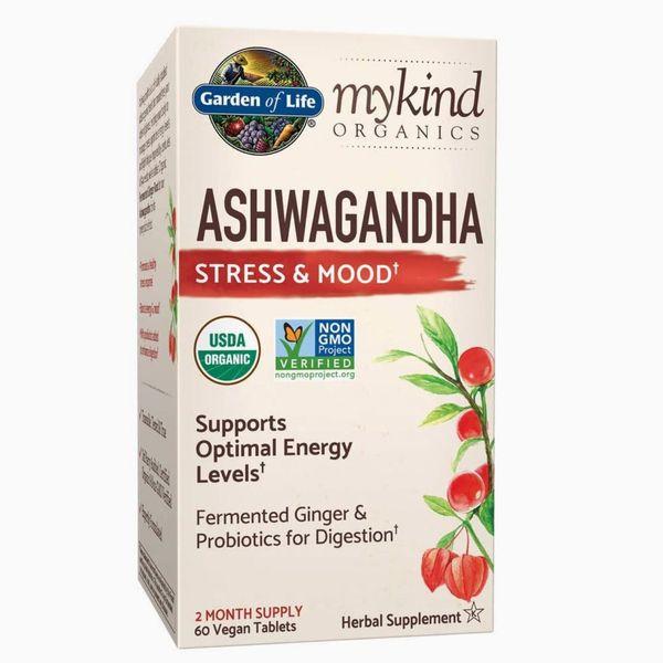 Garden of Life mykind Organics Ashwagandha Stress & Mood Tablets