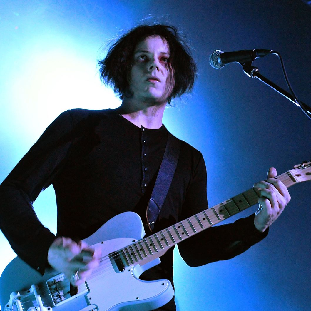 Musician Jack White performs live on stage during a one-off solo concert