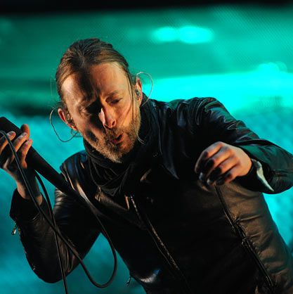 INDIO, CA - APRIL 14:  Musician Thom Yorke of Radiohead performs during day 2 of the 2012 Coachella Music Festival at The Empire Polo Club on April 14, 2012 in Indio, California.  (Photo by C Flanigan/FilmMagic)