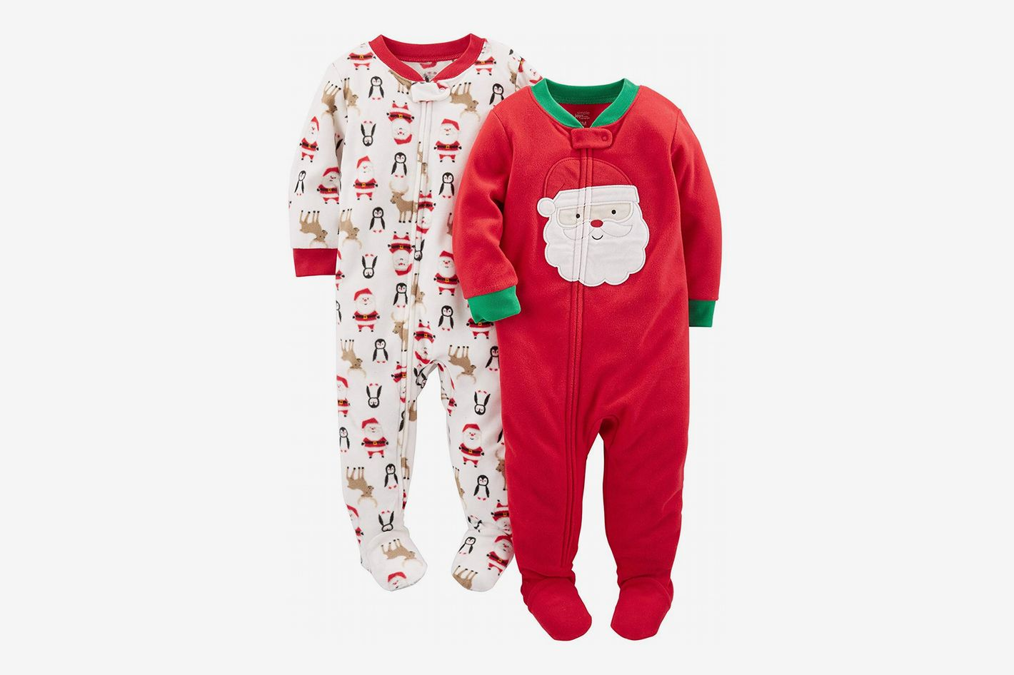 c7e06977b2 Simple Joys by Carter s Baby 2-Pack Holiday Fleece Footed Pajamas