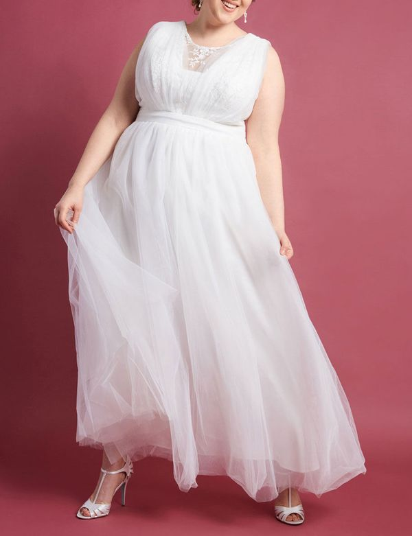 Chi Chi London Ceremonial Majesty Maxi Dress in White