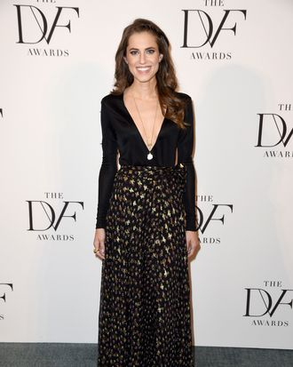 Allison Williams at the DVF Awards.