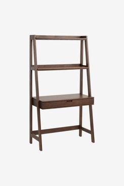 Walnut Brown Modular Elias Desk With Shelf