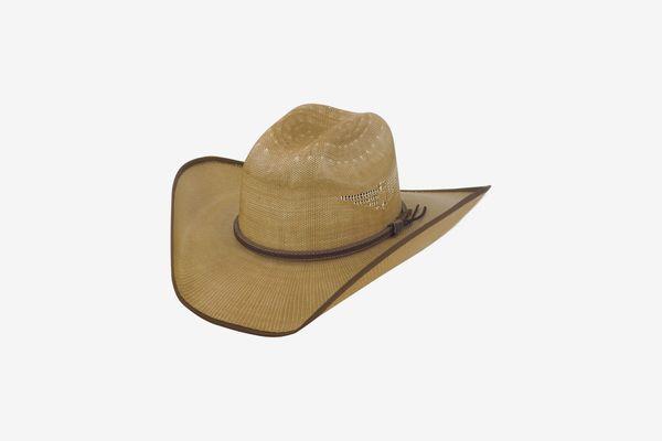 Justin Bent Rail Tan Fenix Straw CowboyHat