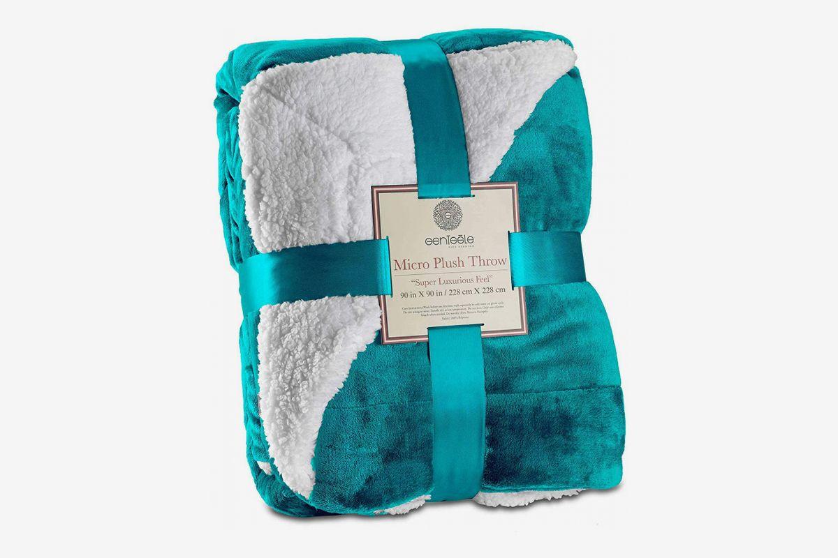 90 X 90 inches, Grey softan Fleece Blanket Lightweight Super Soft Non Shedding Microfiber Ultra Luxurious Plush Blanket