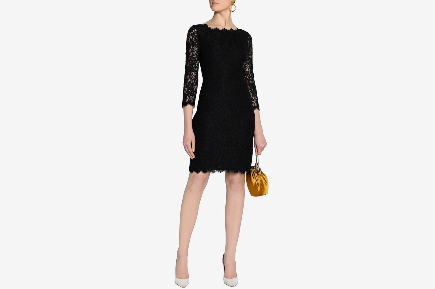 DIANE VON FURSTENBERG Scalloped corded lace dress