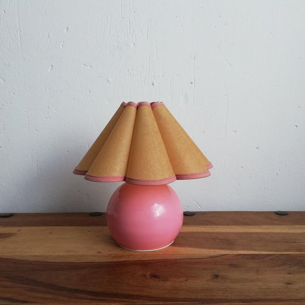 Table Lamp With Fluted Lampshade
