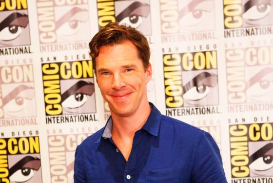 24 Jul 2014, San Diego, California, USA --- Celebrity Arrivals at the 'Penguins Of Madagascar' in San Diego. Part of The San Diego Comic Con in CA. Pictured: Benedict Cumberbatch --- Image by © Richie Buxo/Splash News/Corbis