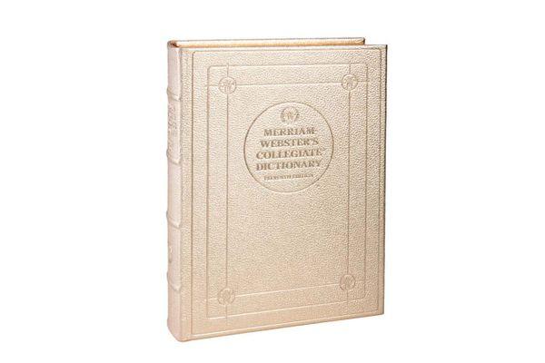 Desk Dictionary Metallics Leather